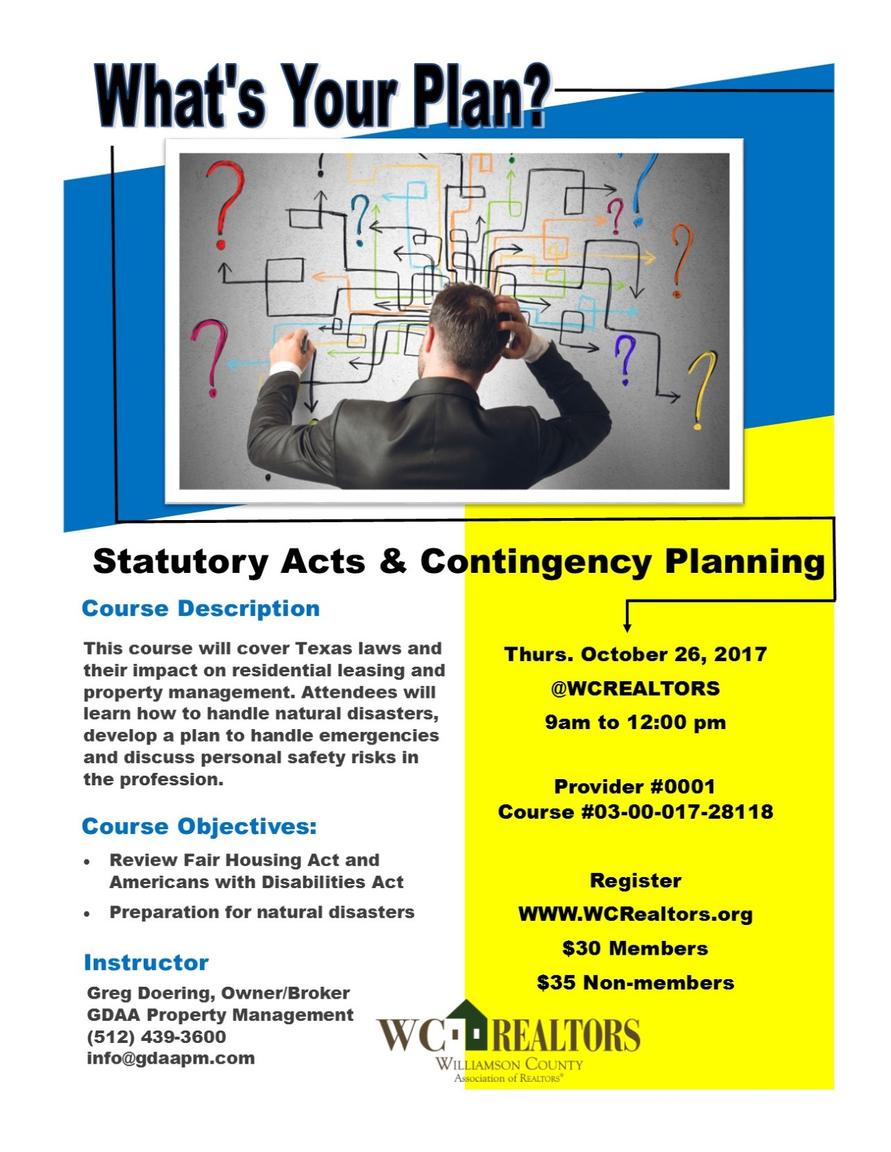 Property management education statutory acts contingency planning 3 hour ce credit 1betcityfo Choice Image